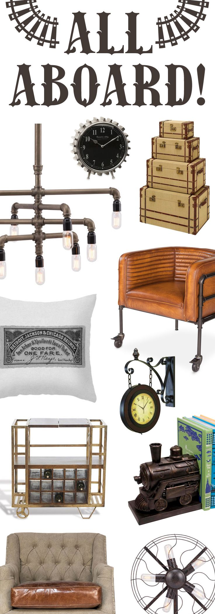 Load Up Your Home With Old-Fashioned Railroad-Inspired Designs   Up to 60% Off at dotandbo.com