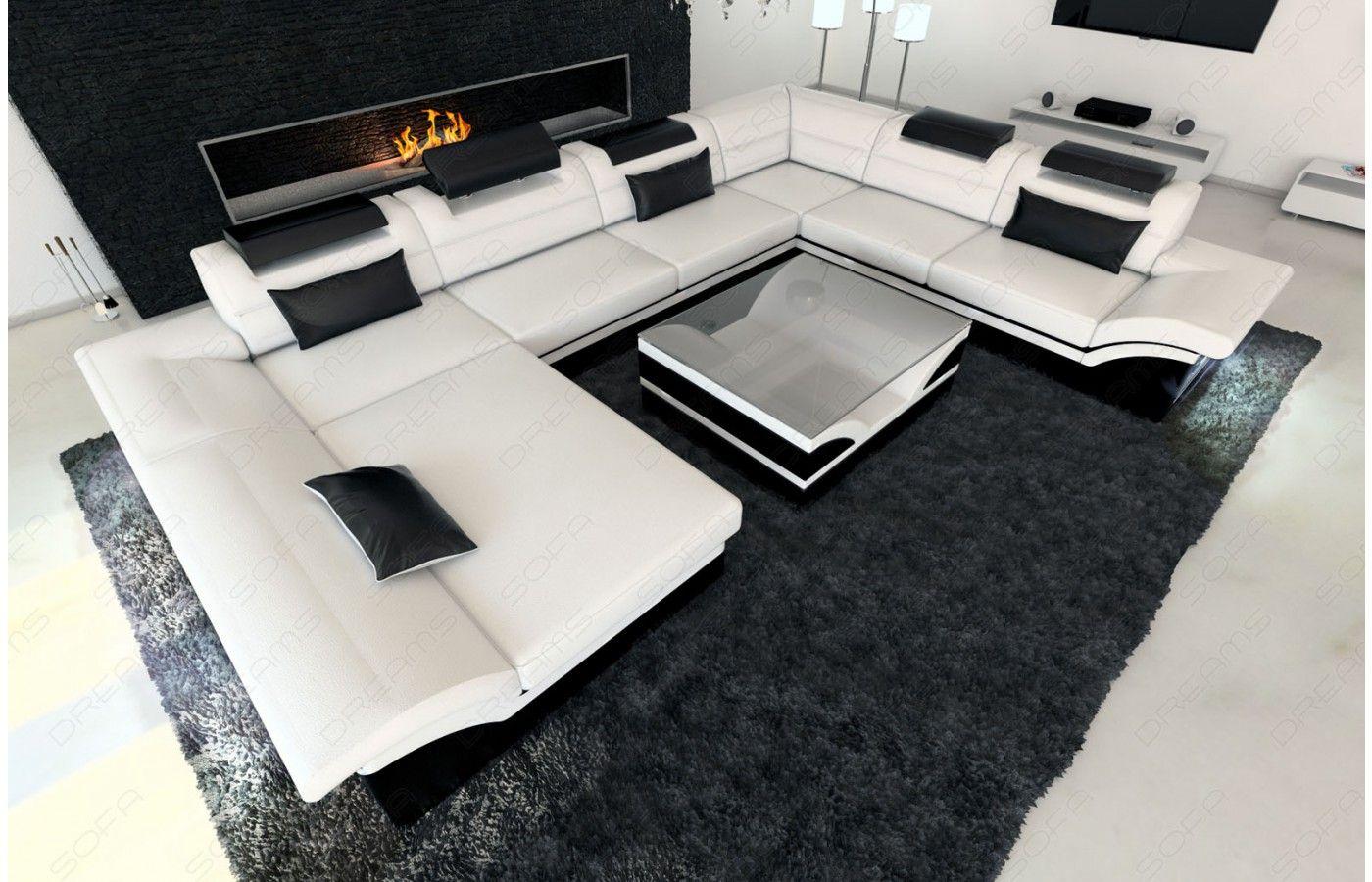Exklusive Sofas Und Couches wohnlandschaft enzo in weiß schwarz exklusive designer möbel