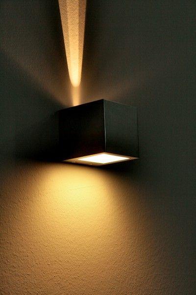 LED Design Lampe wandstrahler murale éclairage mural lampe flurlampe doré