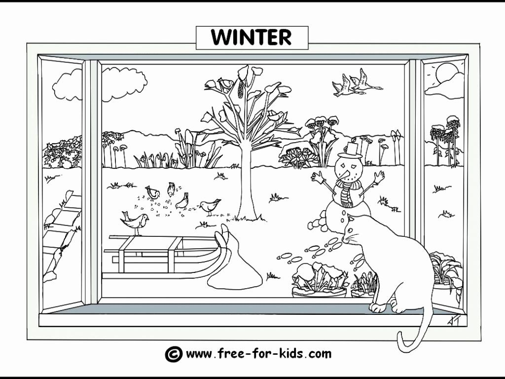Winter Coloring Pages Printables Lovely Download 4 Seasons