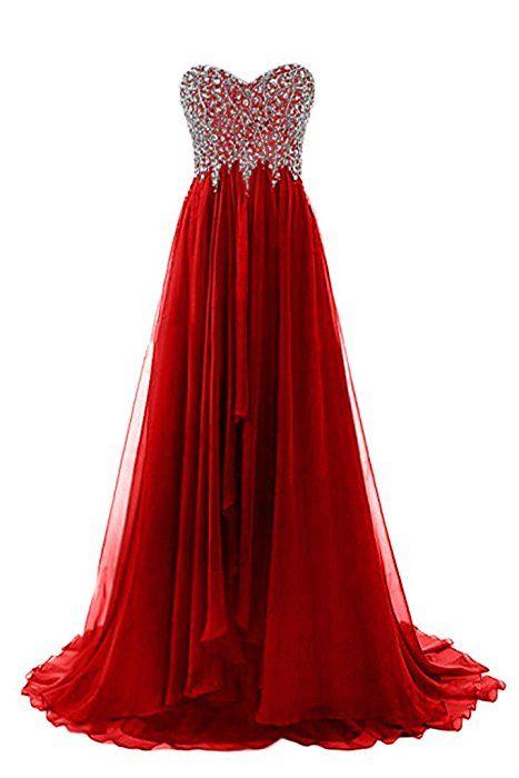 Prom Style Erstaunlich Herz-Ausschnitt Steine Abendkleider ...