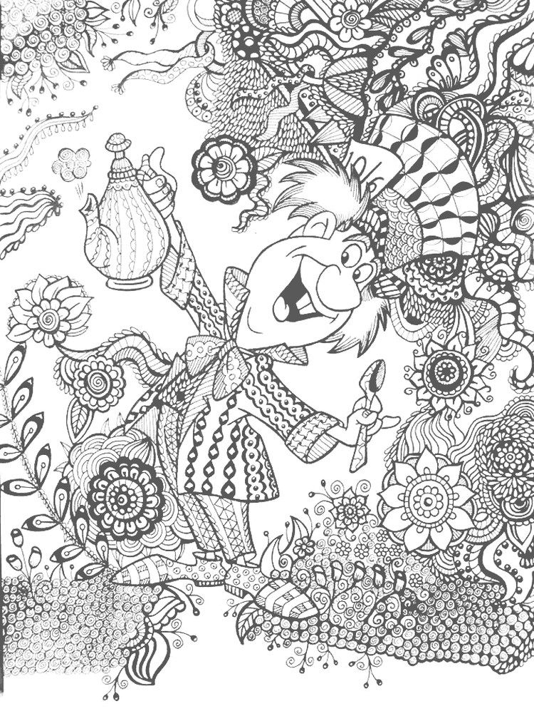 Alice In Wonderland Coloring Pages - Free Coloring Sheets Disney Coloring  Pages, Alice In Wonderland Cartoon, Coloring Pages