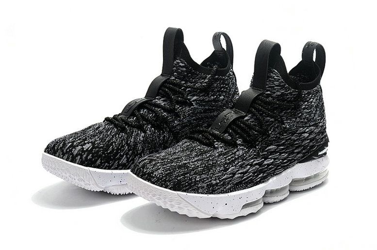 0ad0a5e6363 2018 Mens Original Nike Lebron 15 Basketball Shoes Ashes Black Grey White