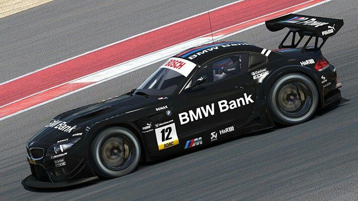 Bmw Bank M Power Z4 Summertime Edition By Matthew Nethercote Trading Paints Bmw Race Cars Racing