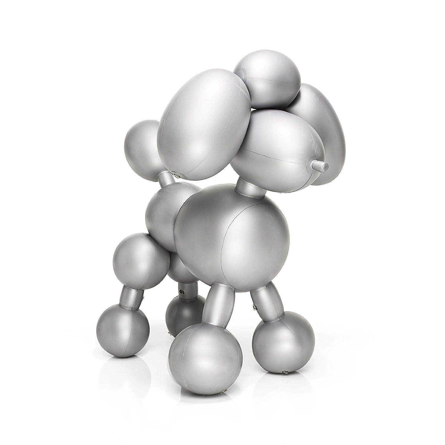 fatboy inflatable balloon poodle dolly decor, silver: home