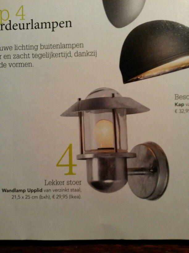 Stoere verzinkte buitenlamp Ikea