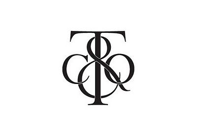 Monogram for Tiffany & Co. According to Bianca Mascorro, it was done by Louise Fili.