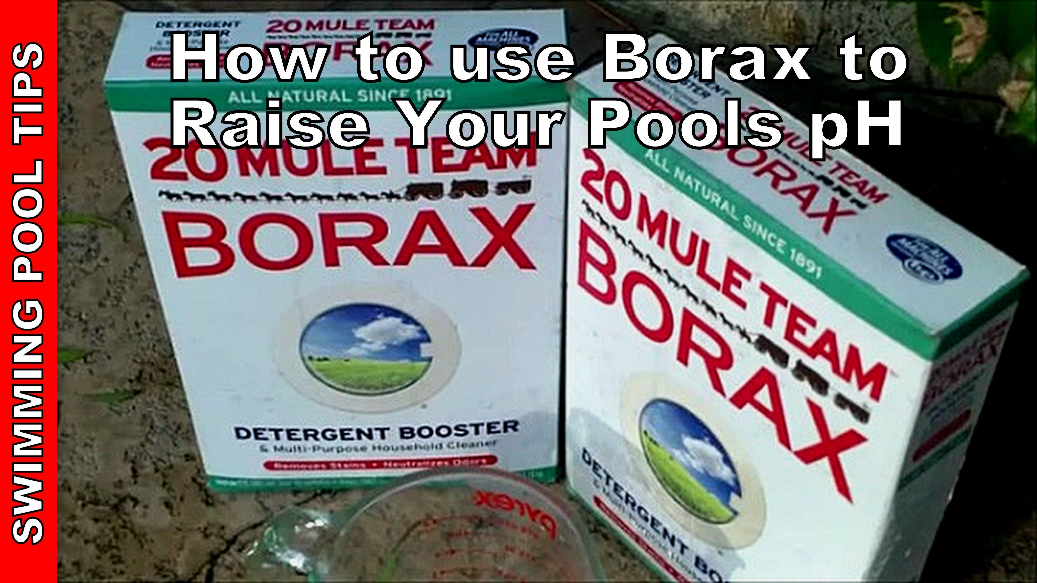 How To Use Borax To Raise The Ph In Your Pool How Much Borax To
