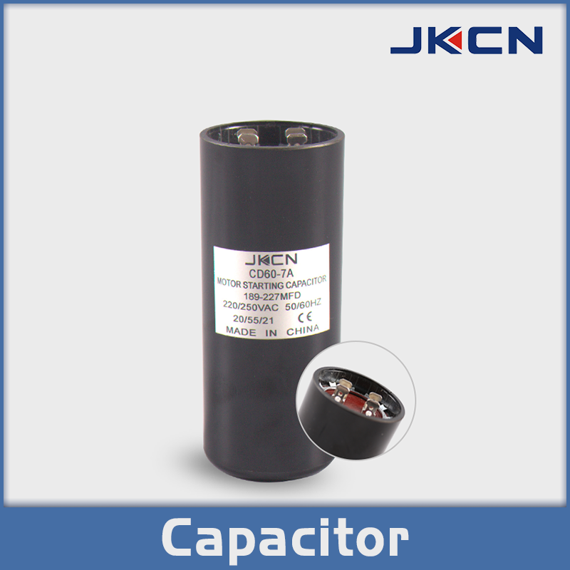 Cd60 7a Jk Brand Motor Starting Capacitor The Product Is Produced By Using High Purely Aluminum Foil As The Pl Capacitor Electrolytic Capacitor Aluminum Foil