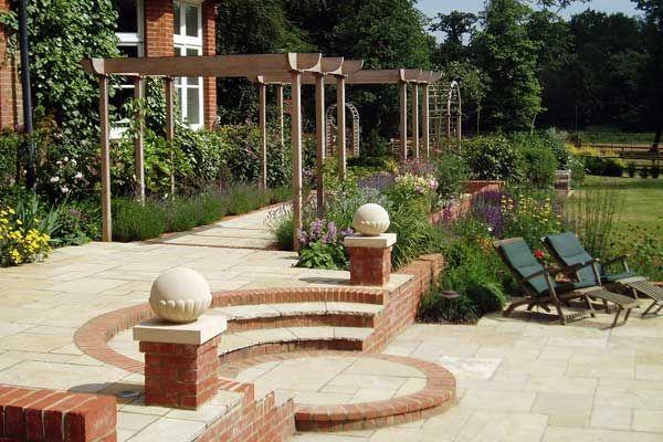 Swimming Pool Garden Design Farnham Surrey Garden Design Garden Beautiful Gardens