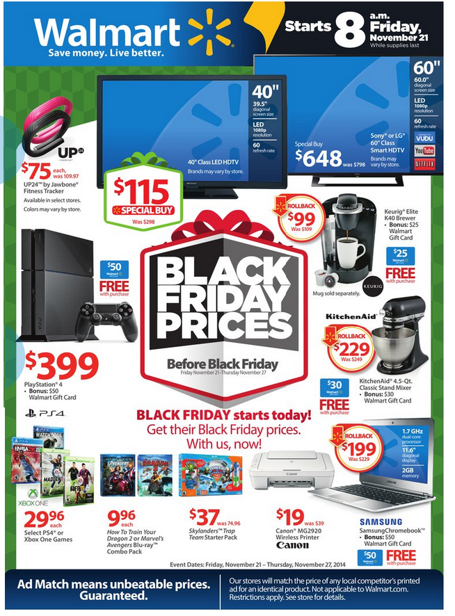 Walmart S Black Friday Prices Before Black Friday Black Friday Prices Pre Black Friday Sales Black Friday Items