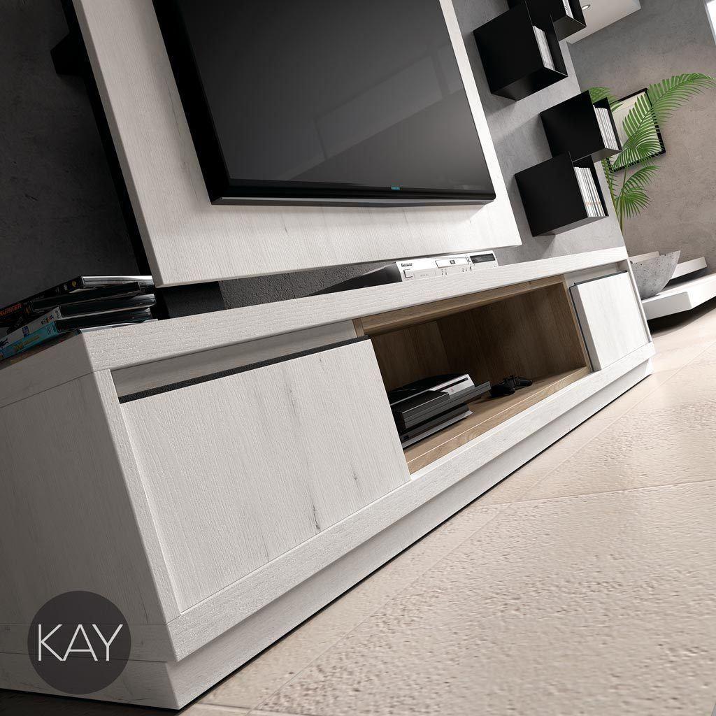Coleccion kay de baixmoduls muebles bajos para la for Muebles bajos de salon