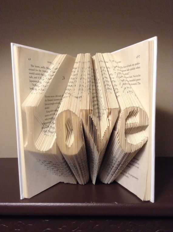 Folded Book Art Letters Love Best Selling Item Gift For