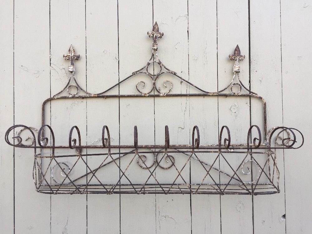 Details About Spanish Wrought Iron Window Cage Planter Box