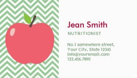 Cute apple green and white chevron nutritionist business cards http cute apple green and white chevron nutritionist business cards http zazzle reheart Gallery