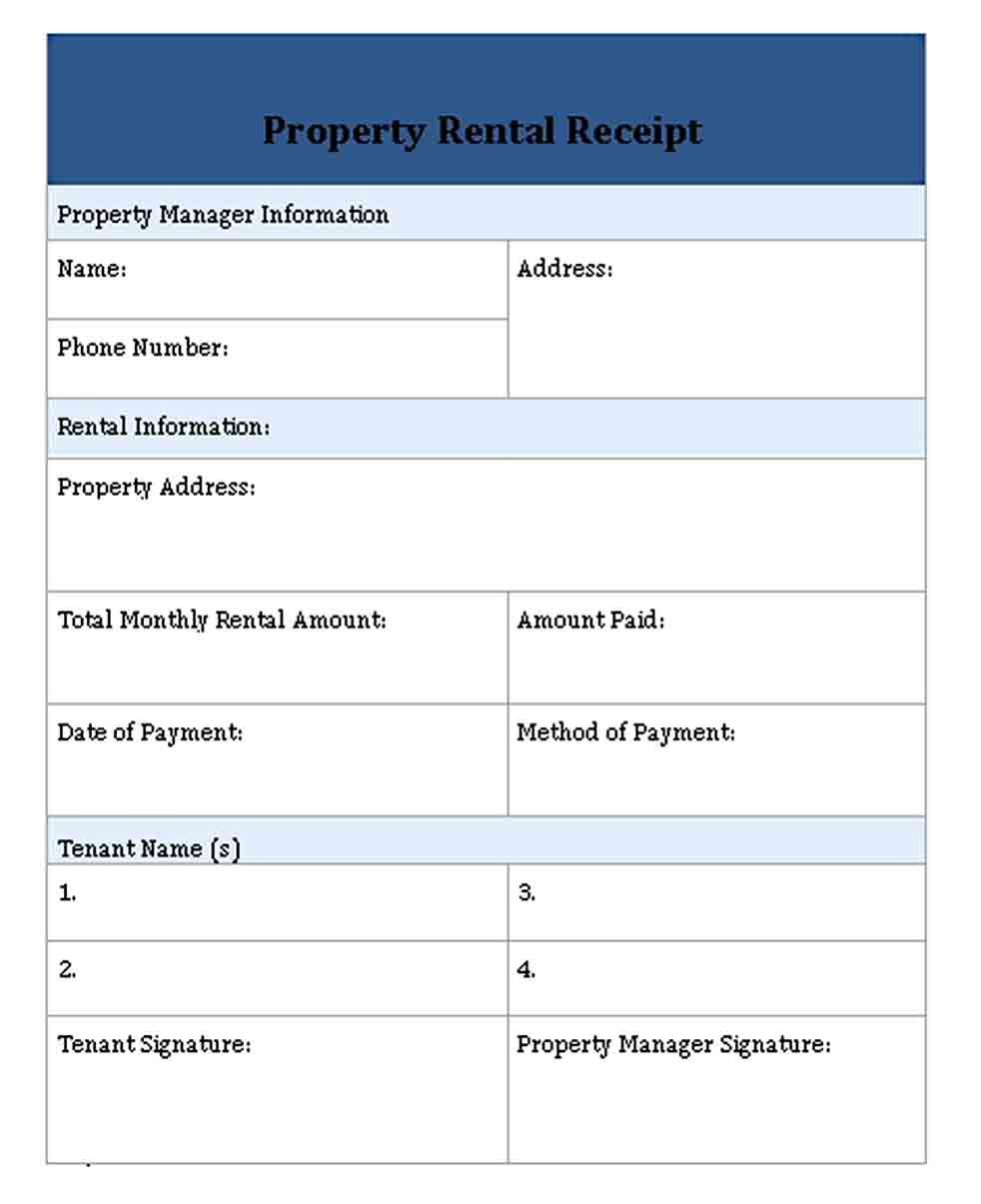 Printable Rent Receipt Templates Receipt Template Rent Templates