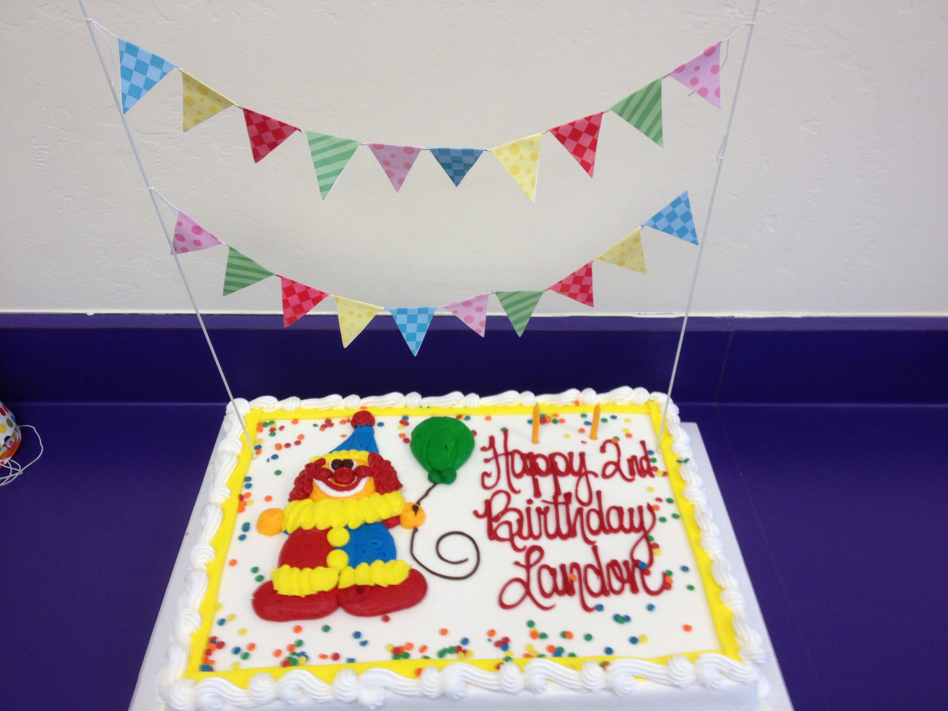 Inexpensive costco clown cake for Gymboree birthday party