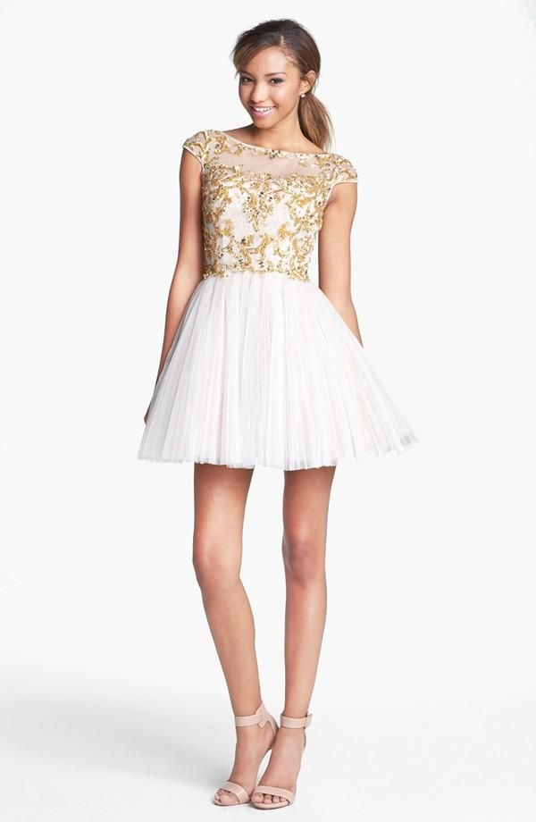 a18cb3a5536 $450 Embellished sequin party dress - so cute! Sherri Hill Embellished Silk  Fit & Flare Dress