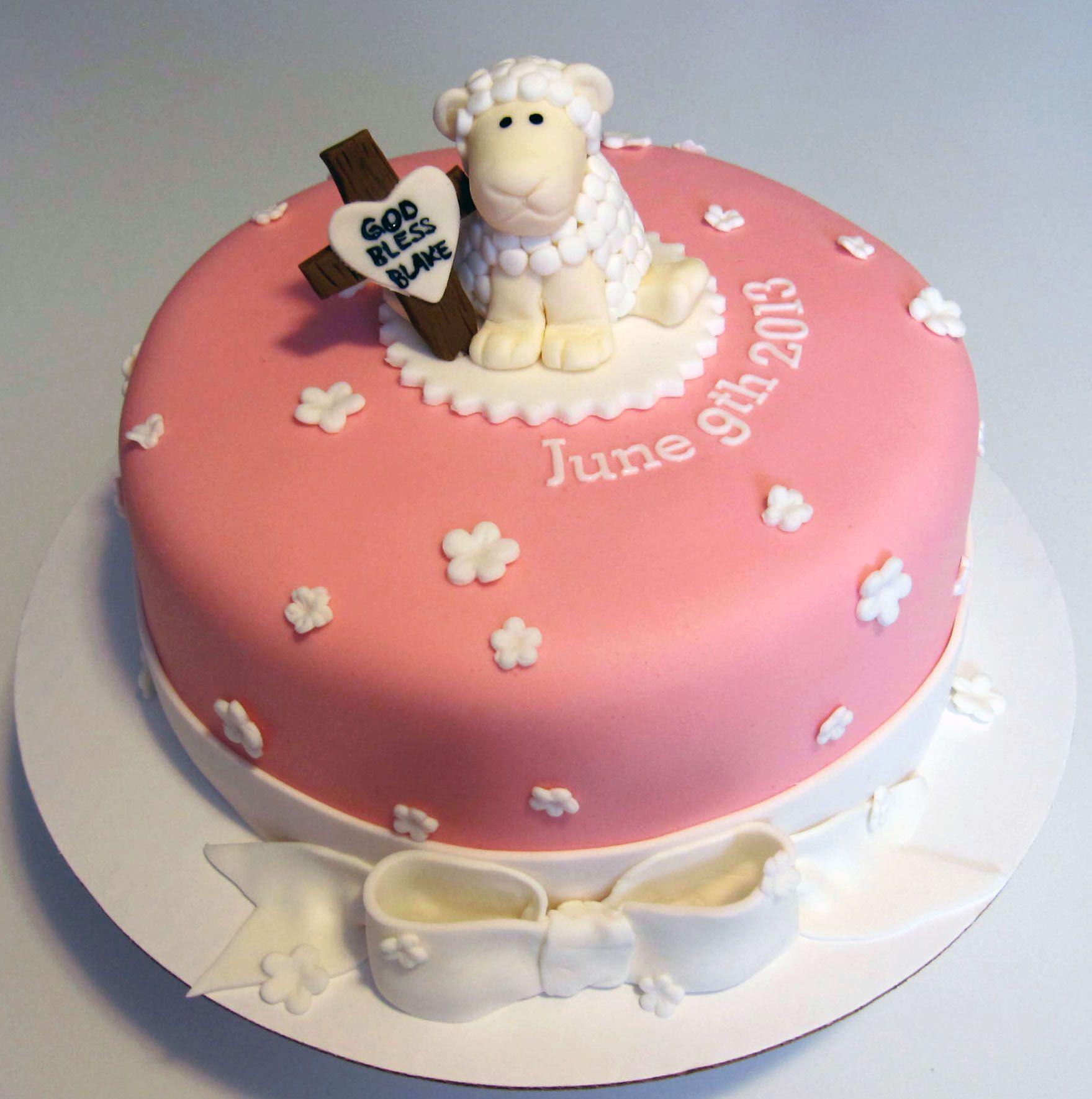 Awe Inspiring Baptism Cake With Lamb Lamb Cake Cake Baptism Cake Birthday Cards Printable Inklcafe Filternl
