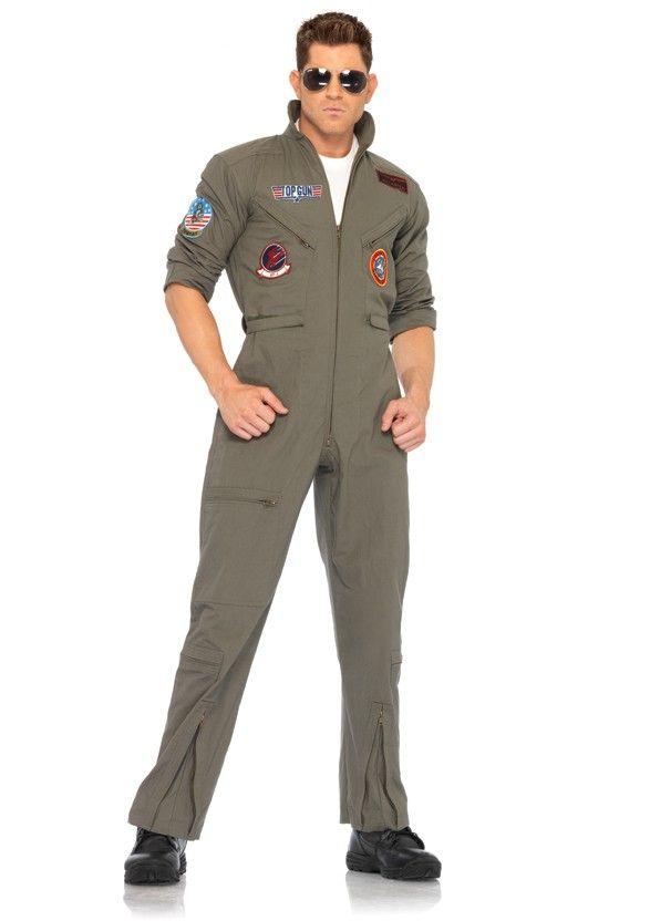 Khaki 2 Piece Top Gun Mens Costume | Manly | Pinterest