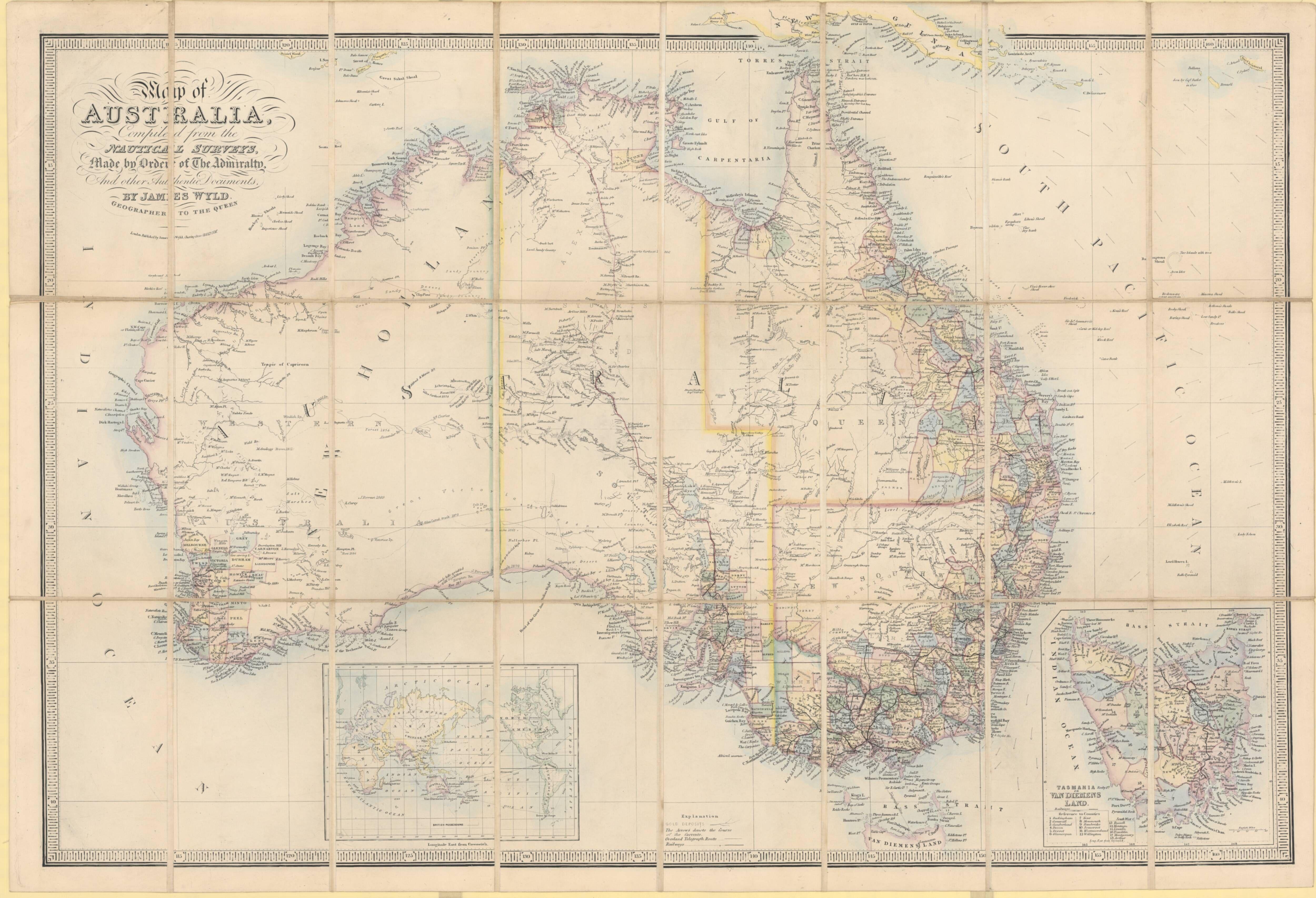 1878 Map of Australia | Maps of Australia / Australasia | Pinterest