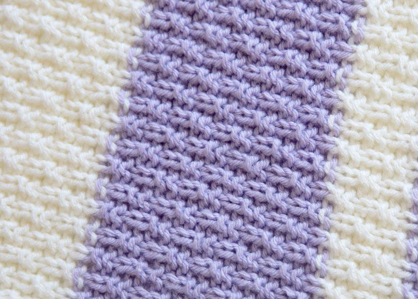 This Easy Knit Baby Blanket Pattern Is Super Fun And Also Easy To Mesmerizing Super Easy Knit Baby Blanket Pattern