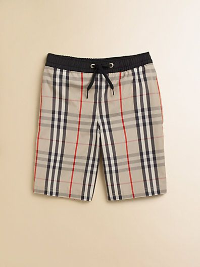 4bcea7cdae5c2 Burberry - Little Boy's Check Swim Trunks | Boys to men | Swim ...