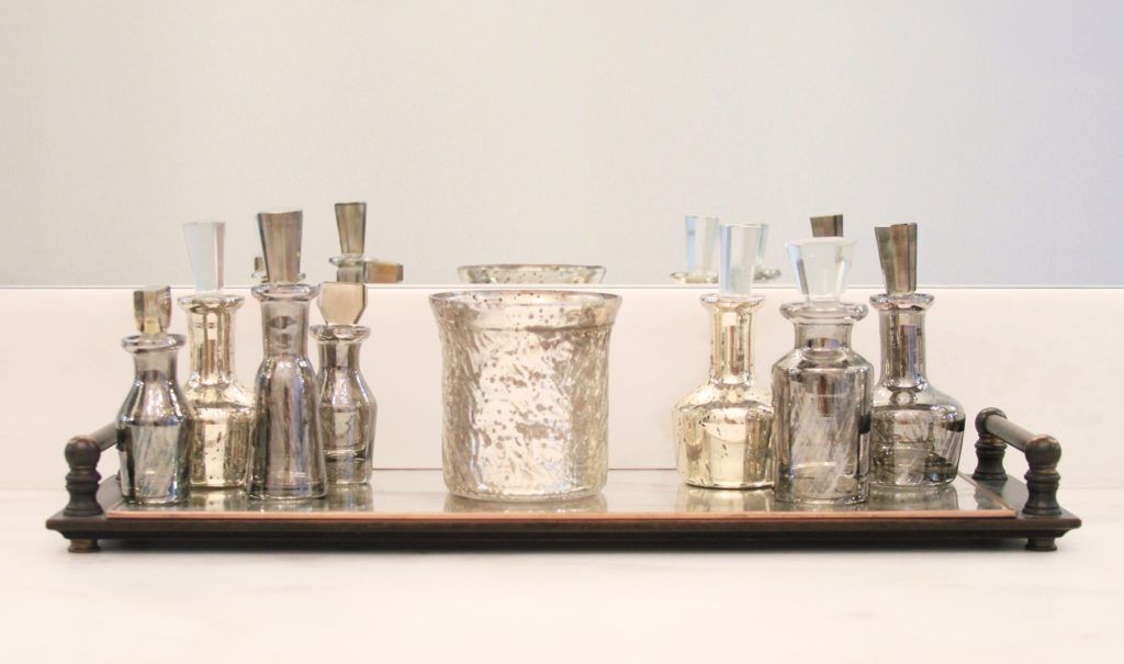 Mercury Glass Bathroom Accessories. Glass  C2 B7 Silver Mercury Glass Bath Accessories
