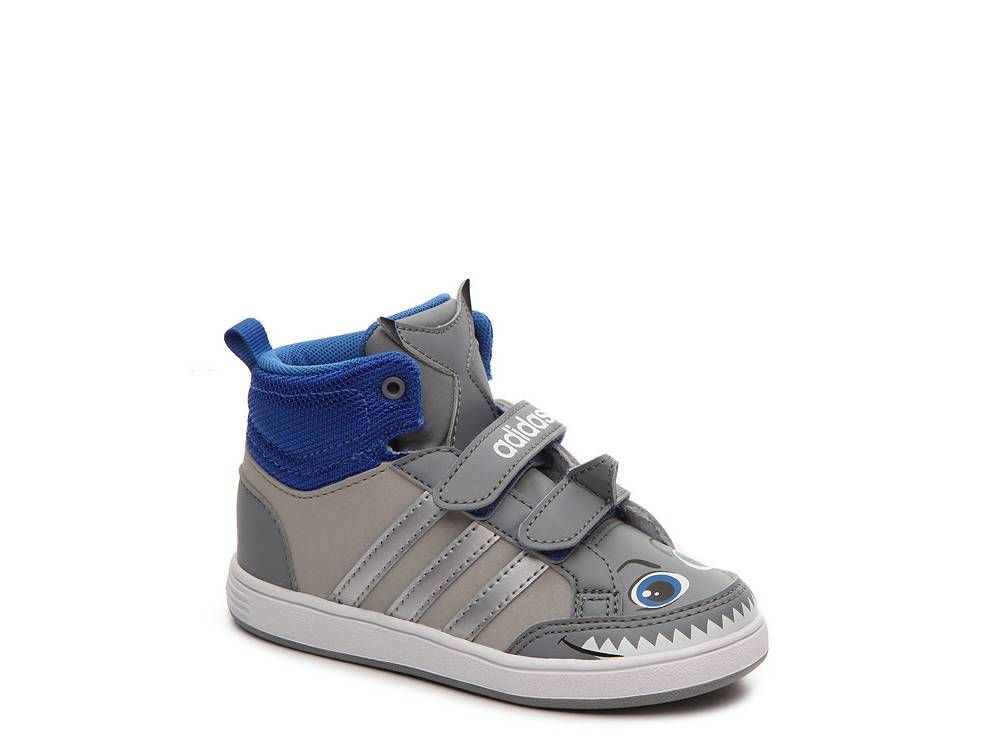 adidas NEO Hoops Shark Boys Infant   Toddler Velcro High-Top Sneaker ... a604ee2a1