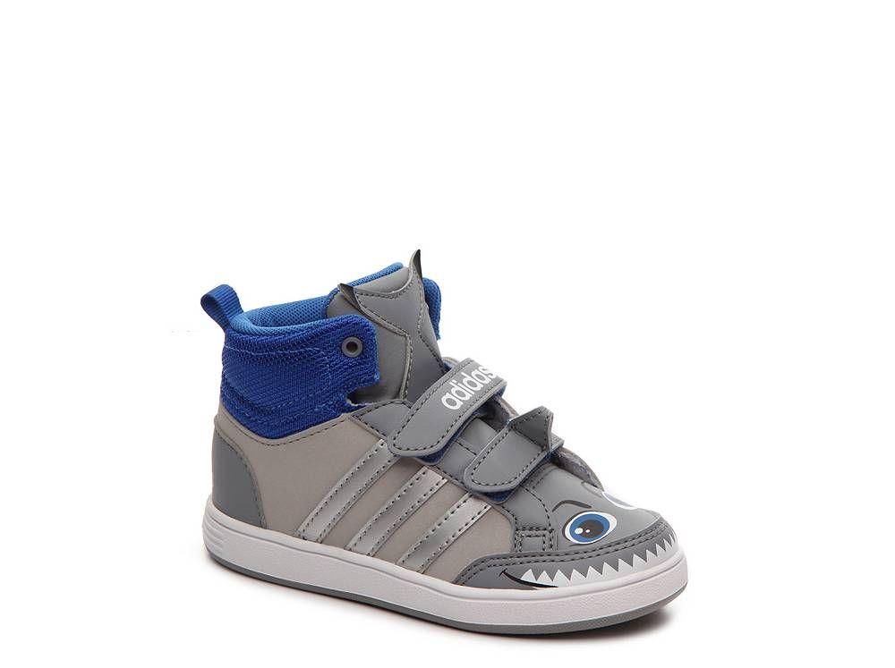 188d76487 adidas NEO Hoops Shark Boys Infant   Toddler Velcro High-Top Sneaker ...