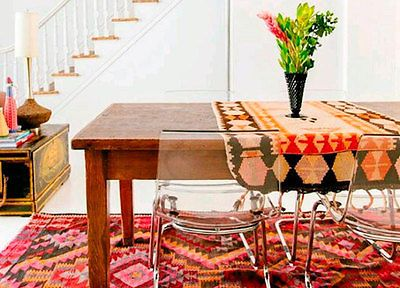 I'm a firm believer that rugs complete a space.Every room in my Jungalow has a bright, patternful rug in it! They make the room feel warm and cozy and add texture, color and pattern. For some fun ways...