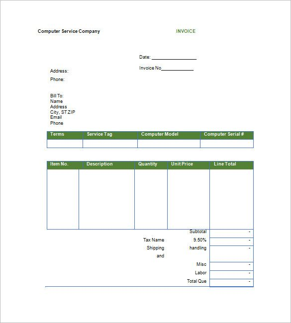 Printable Google Invoice Template Download Invoice Template - Invoice template google
