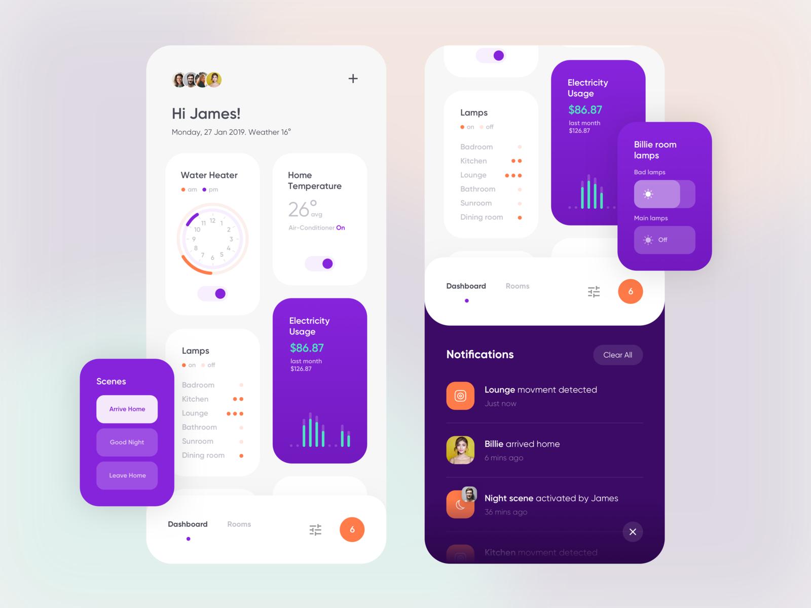 Smart Home App Take 1 App Design Inspiration Ios App Design Inspiration App Design