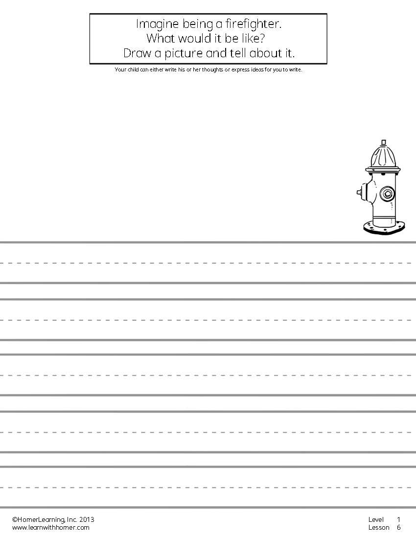 In This Write And Draw Exercise Your Child Can Dream About His Or Her Life As A Firefighter Worksheets Printables Exercises Crafts Kids Reading Kinderg Read write draw printables