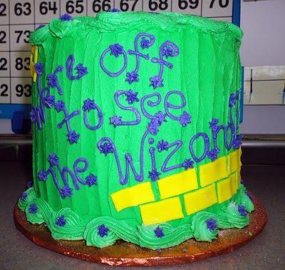 Emerald City Celebration cake for Wizard of Oz unit!