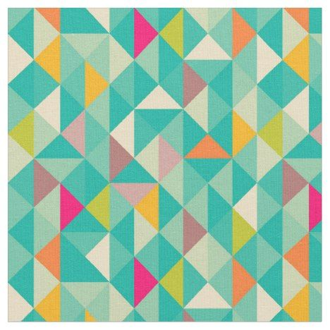Triangles pattern fabric
