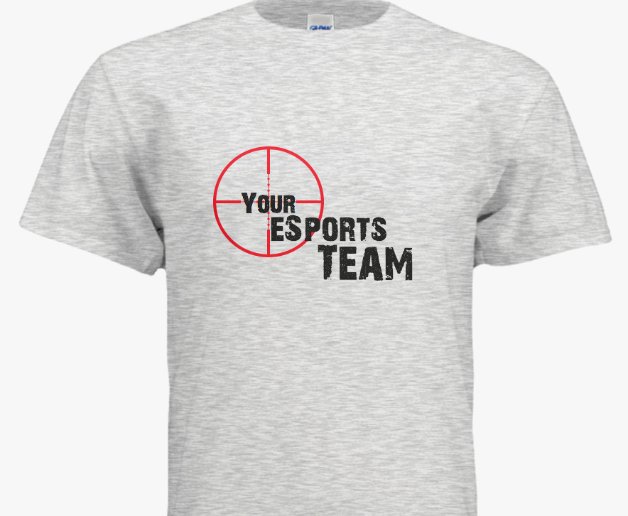 Customizable eSports T-shirt Design Template - just add your team name a005eb6b3