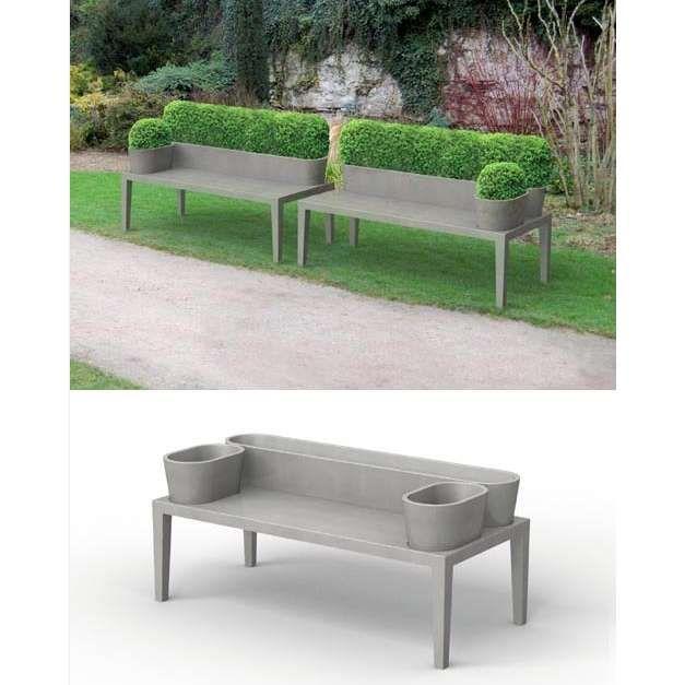 Cement Garden Bench Planter Moule Réalisé Par Techni Moulage  [www.techni Moulage
