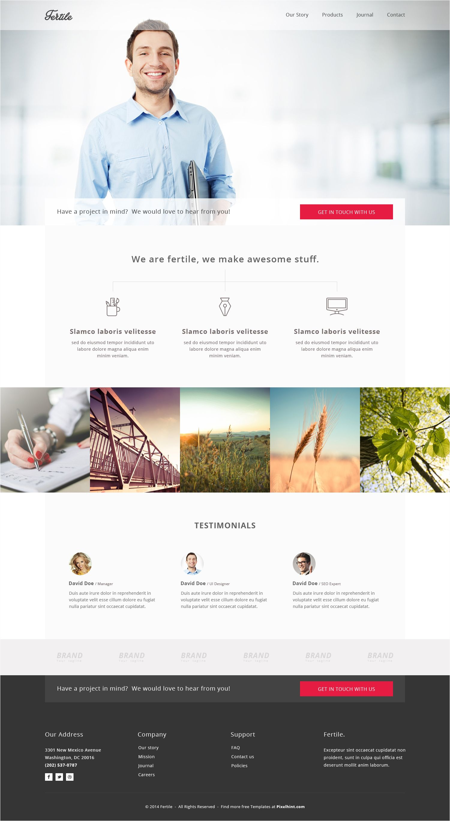 Fertile - HTML5 Portfolio Template | Free#Html#Templates | Pinterest