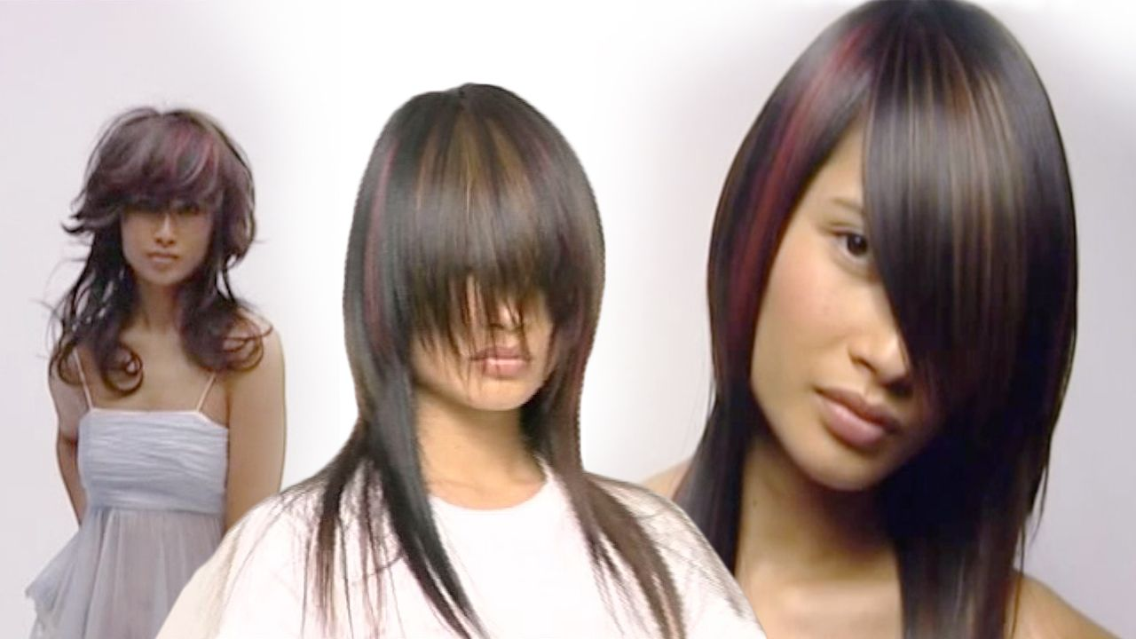 Corte de cabello desconectado mujer