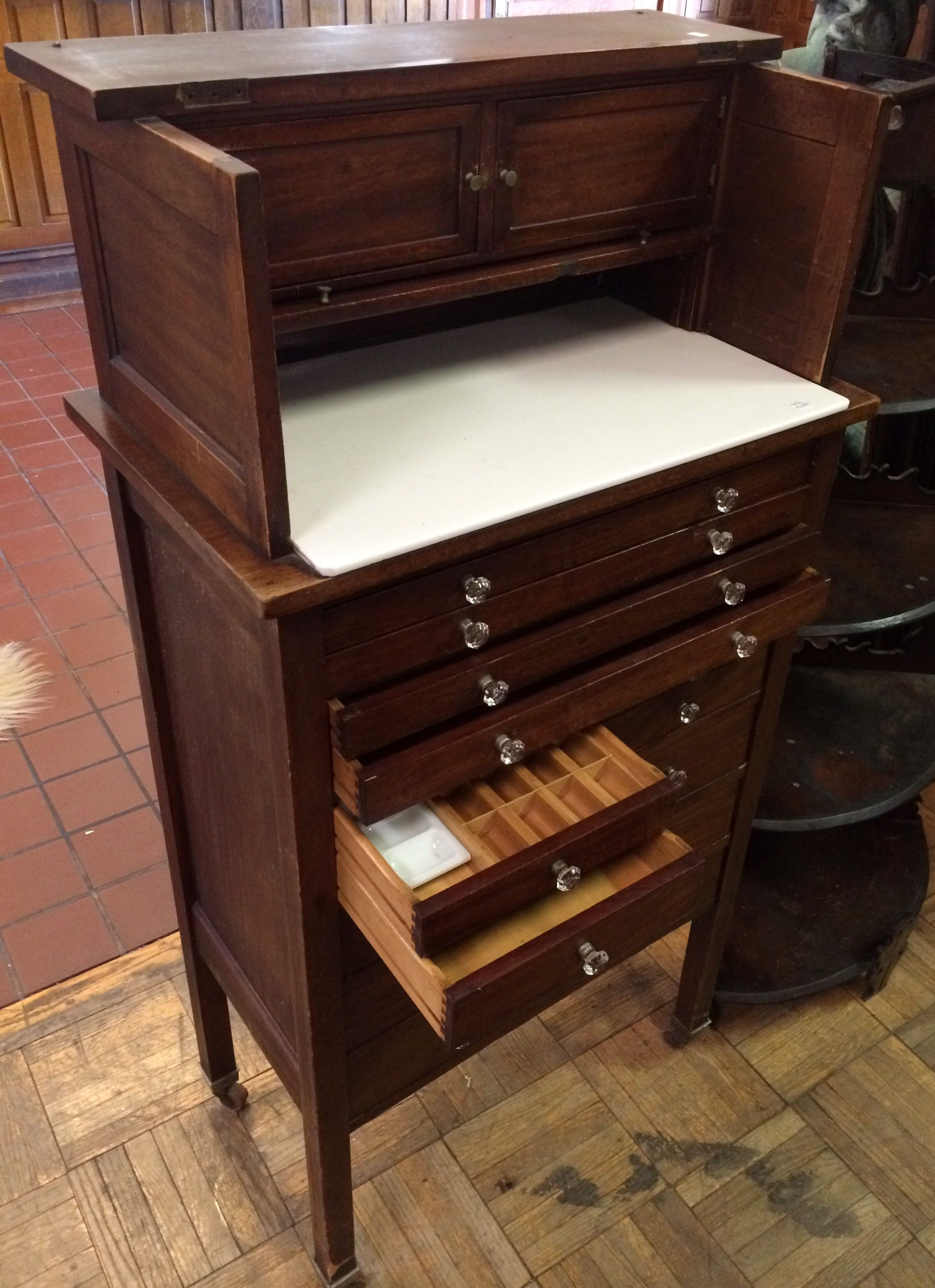 Beautiful Antique Oak Dentist Cabinet Cabinets Of Drawers To Die