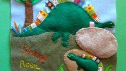 Photo of Dinosaur Quiet Book Page