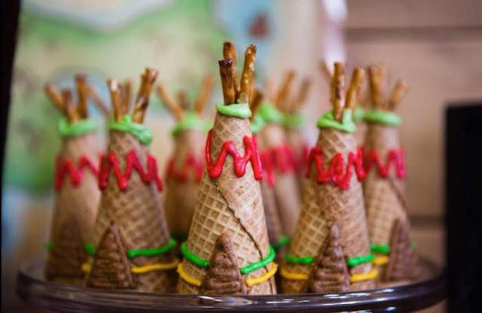 Ice cream  cones turned into teepee!