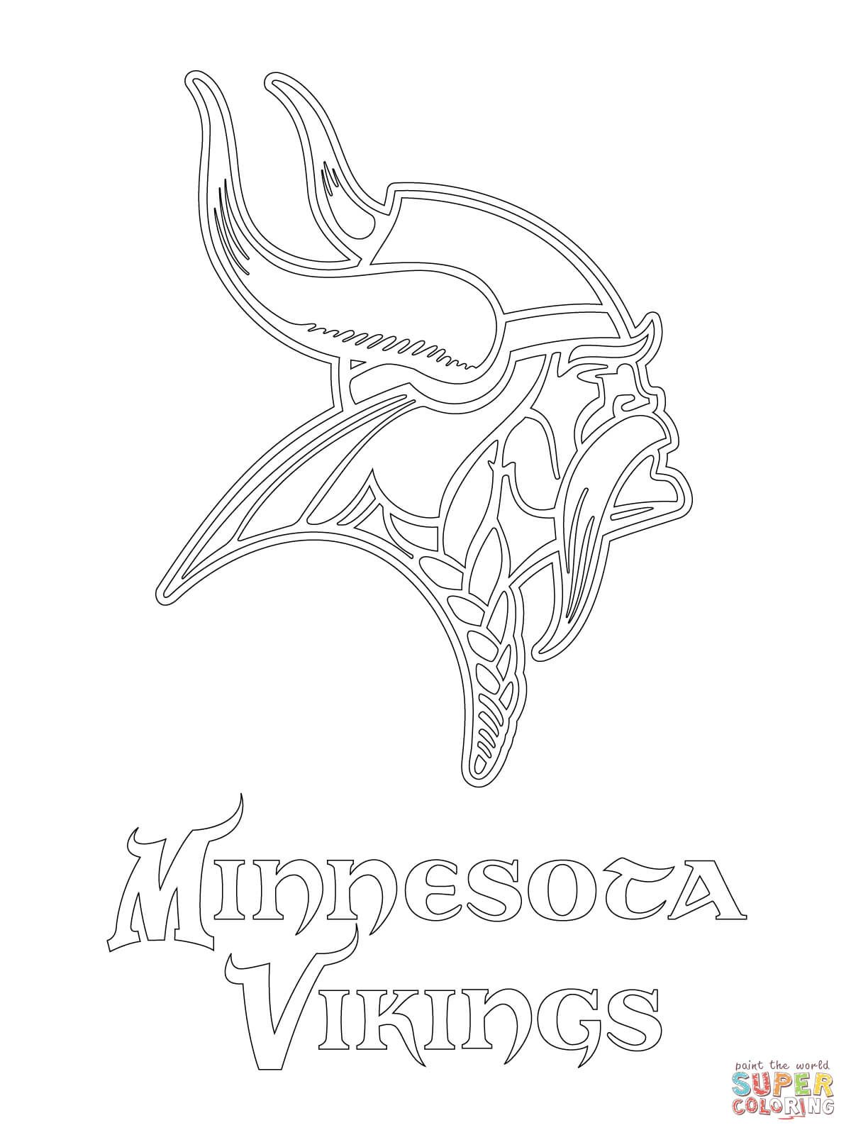 Minnesota Vikings Logo Coloring Page From Nfl Category