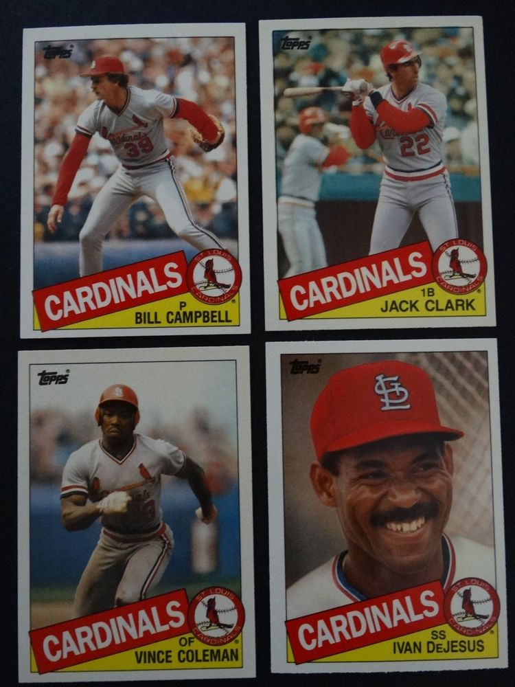 1985 Topps Traded St Louis Cardinals Team Set Of 4 Baseball