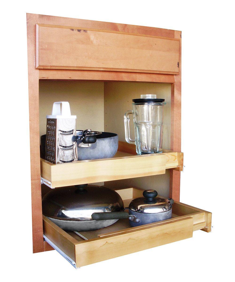 Ja Marketing Bamboo 20 Expandable Pull Out Shelf Shelves