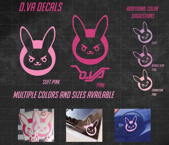 D va bunny vinyl decal multiple sizes and over by sewthinggeeky