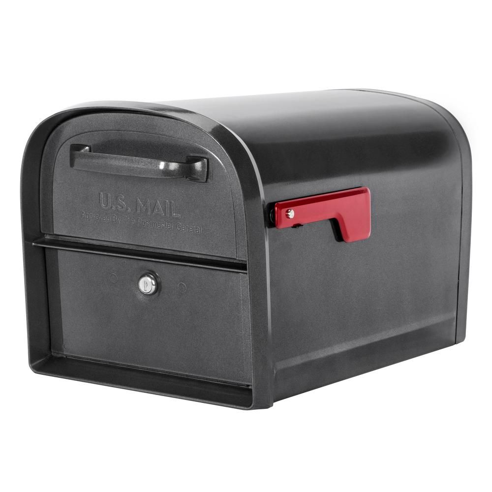 Architectural Mailboxes Oasis 360 Locking Parcel Mailbox With 2 Access Doors Pewter Silver Architectural Mailboxes Lockable Mailbox Mailbox