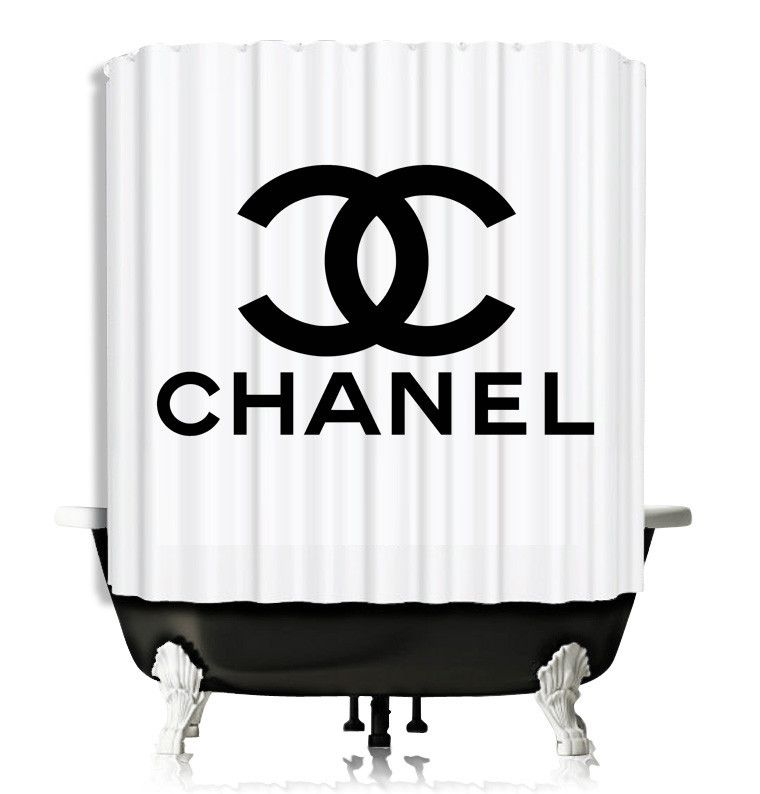 Chanel Logo White Design Shower Curtain