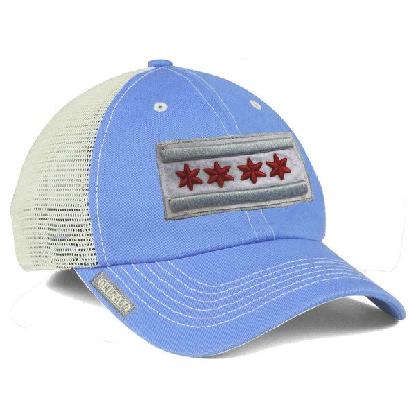 City of Chicago Vintage Baby Blue Mesh Adjustable Flag Hat  Chicago   CityofChicago ee36e5322f0